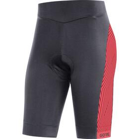 GORE WEAR C3 Optiline fietsbroek kort Dames rood/zwart